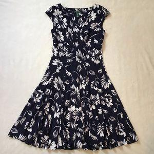 Lauren Ralph Lauren Floral Fit & Flare Dress, 10